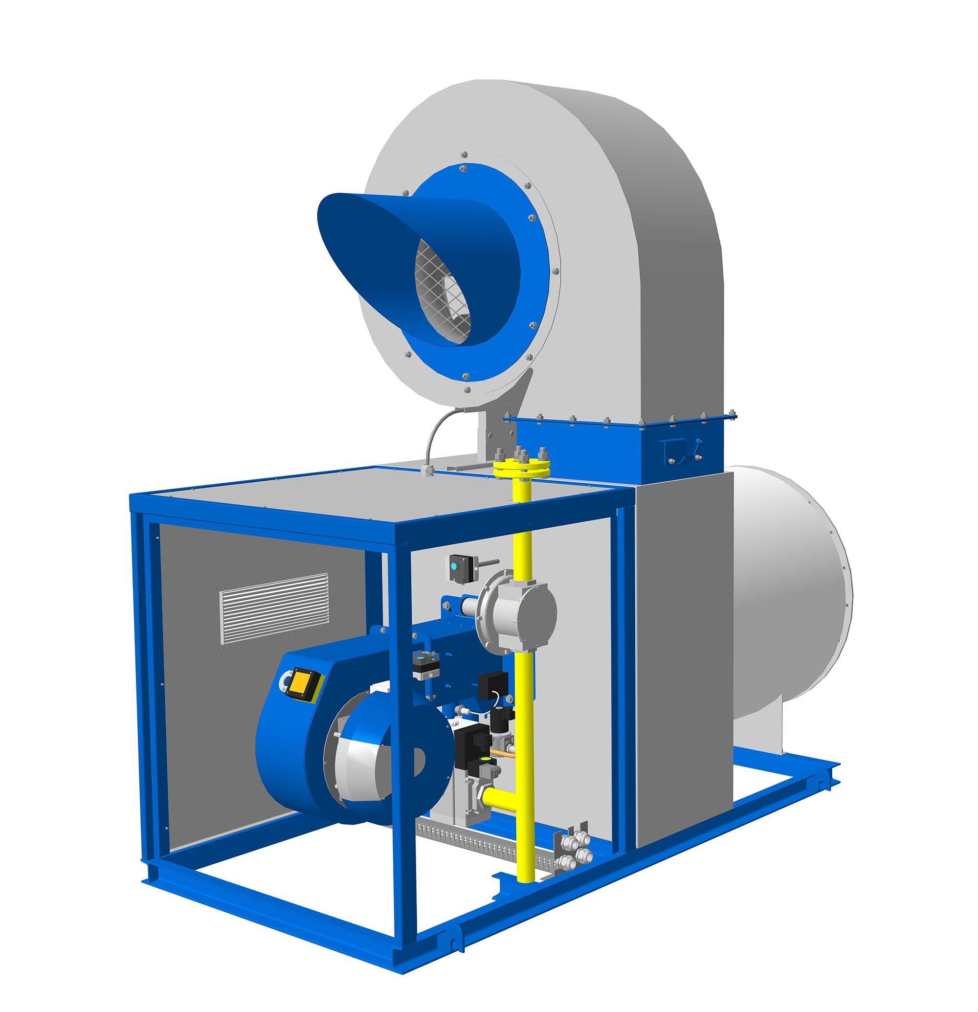 воздухонагреватели смесительные газовые крон-турбо